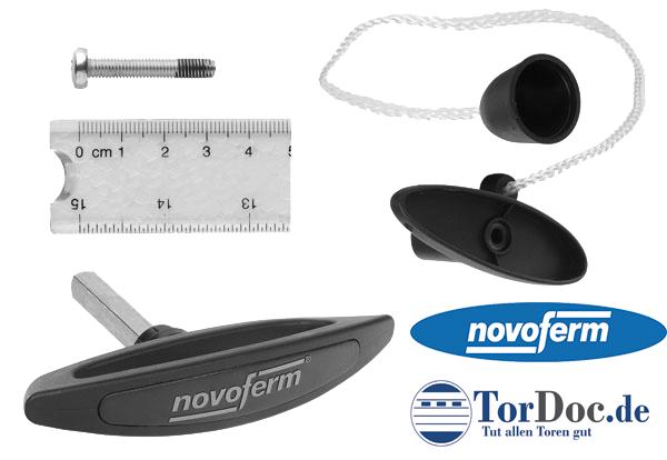 Garagentor Griff komplett für Novoferm, Siebau, Zapf
