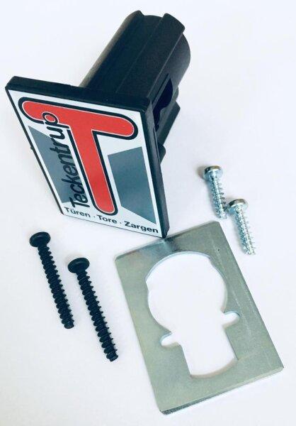 Teckentrup Schlossadapter mit Tekla Logo und Zubehör