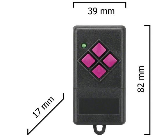 Dickert FHS10-02  Handsender, 4-Kanal, 40 MHz FM