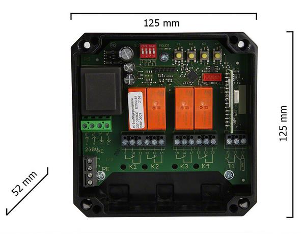 Dickert E25Q-27A400 Funkempfänger 4 Kanal 27 MHz AM 230V