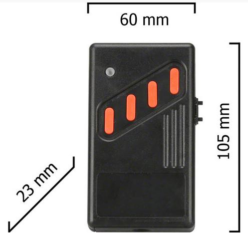 Dickert AHS40-06 Handsender LinearCode 40 Kanal 40 MHz AM