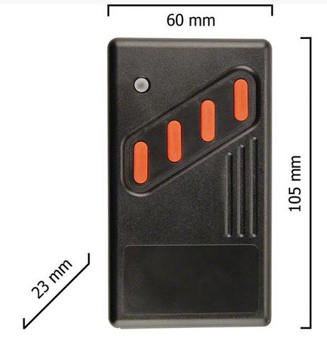 Dickert AHS27-04 Handsender LinearCode 4 Kanal 27 MHz AM