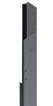 Teckentrup Zargengrundkörper rechts, senkrecht, ohne Zubehör RAL 9016