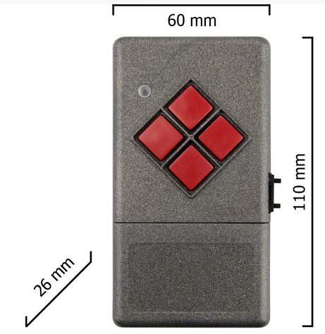 Dickert S20-433A1000 Handsender LinearCode 10 Kanal 433 MHz AM