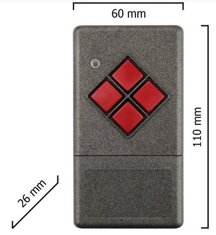 Dickert S20-433A1L00 Handsender LinearCode 1 Kanal 433...
