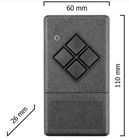 Dickert S20-433A1K00 Handsender KeeLoq 1 Kanal 433 MHz AM
