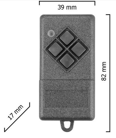 Dickert S10-433A4K00 Handsender KeeLoq 4 Kanal 433 MHz AM