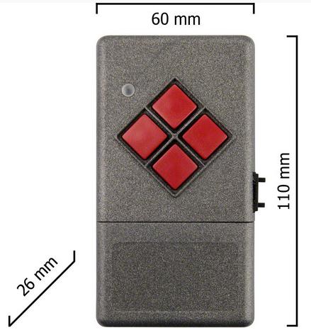 Dickert S20-868A1000 Handsender LinearCode 10 Kanal 868 MHz