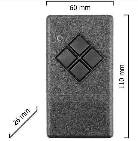 Dickert S20-868A4K00 Handsender KeeLoq 4 Kanal 868 MHz