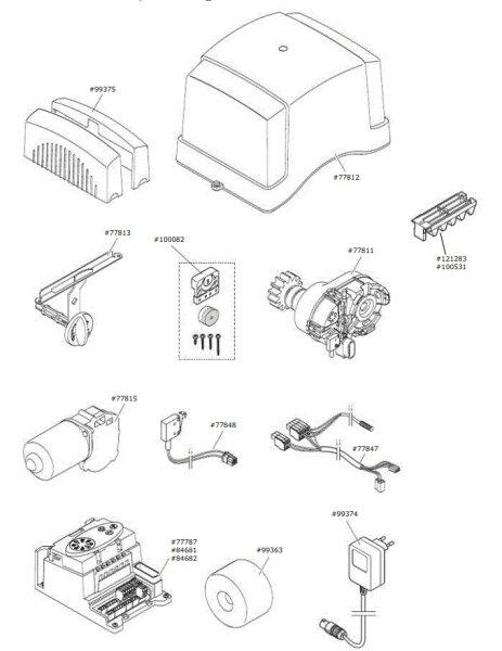 Marantec Getriebemotor, vormontiert für Comfort 870