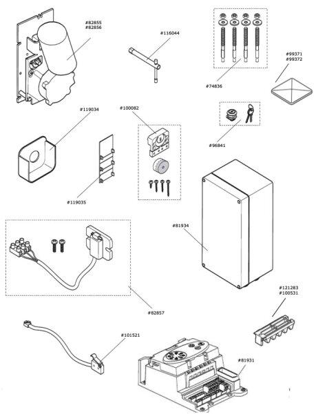Marantec Microschalter Entriegelung ( inkl. Kabel )