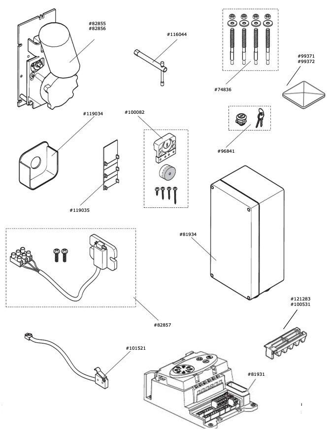 Marantec Schaltmagnet D720 / D820 vormontiert