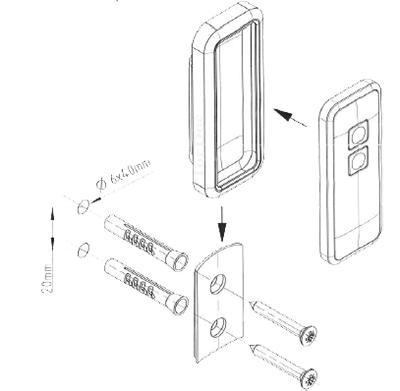 Novoferm Wandhalterung / Silikonhülle für Novotron 522 und 524, schwarz