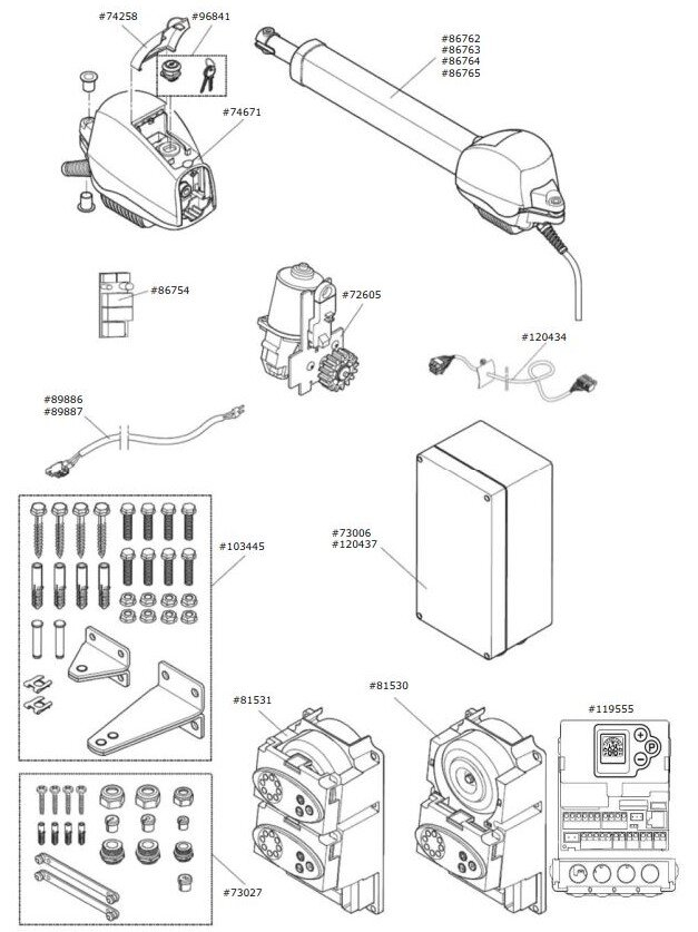 Marantec Zubehörtüte Motor-Aggregat für Comfort 515