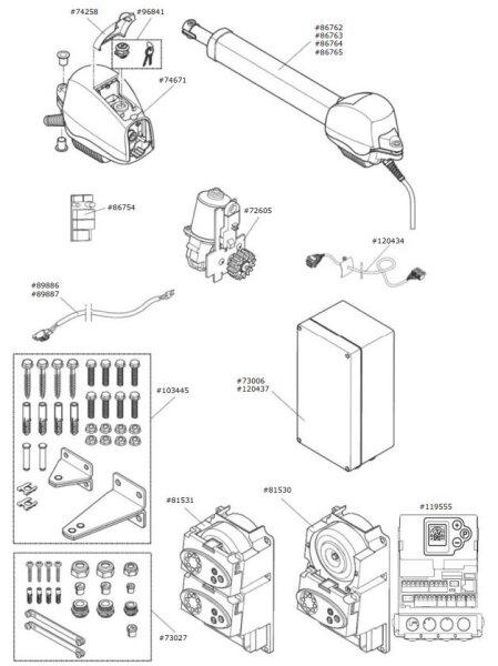 Marantec Antriebsgehäuse für Comfort 515 mit...