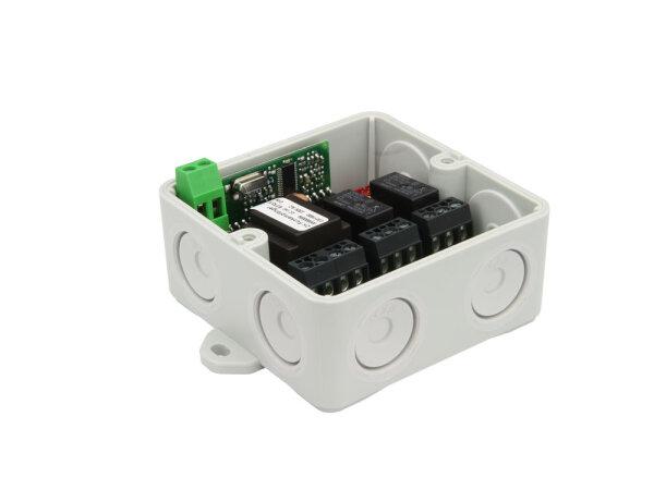 Dickert E27Q-433A200 Mini Empfänger, 230V, 2 Kanal 433,92 Mhz