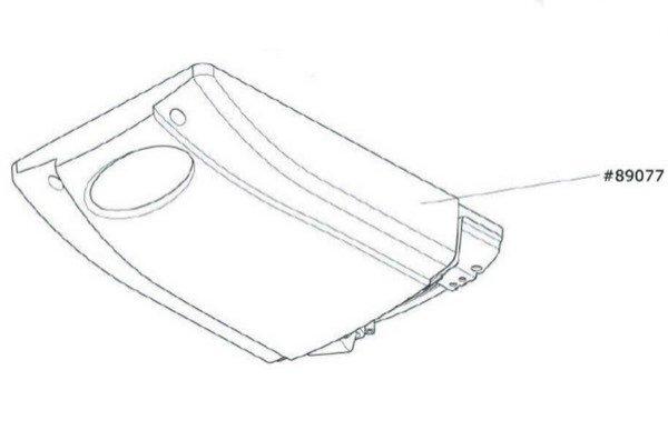 Marantec Antriebshaube inkl. Designblende Comfort 220.2 blueline
