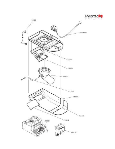 Marantec Platine Motor Semi-Anschluss für Comfort 257