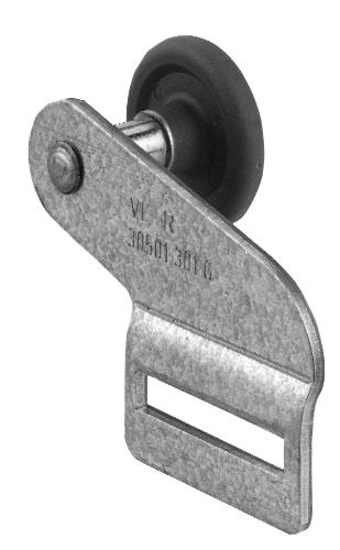 Pfullendorfer  Oberer Laufrollenhalter mit Rolle VL rechts iso 40