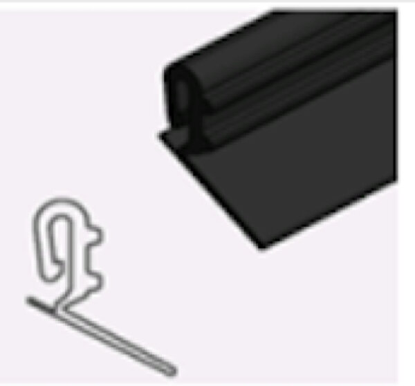 Teckentrup Zargendichtung GS lange Lippe, 2.260 mm