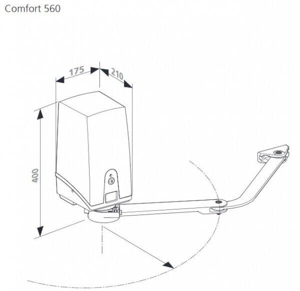 Marantec Comfort 560 Gelenkarmantrieb