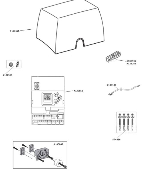 Motorgetriebeeinheit Marantec Comfort 880
