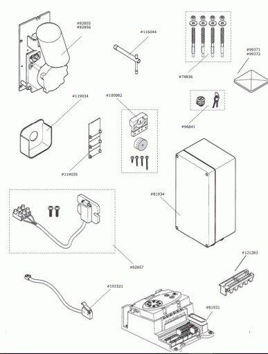Marantec Schaltmagnet vormontiert