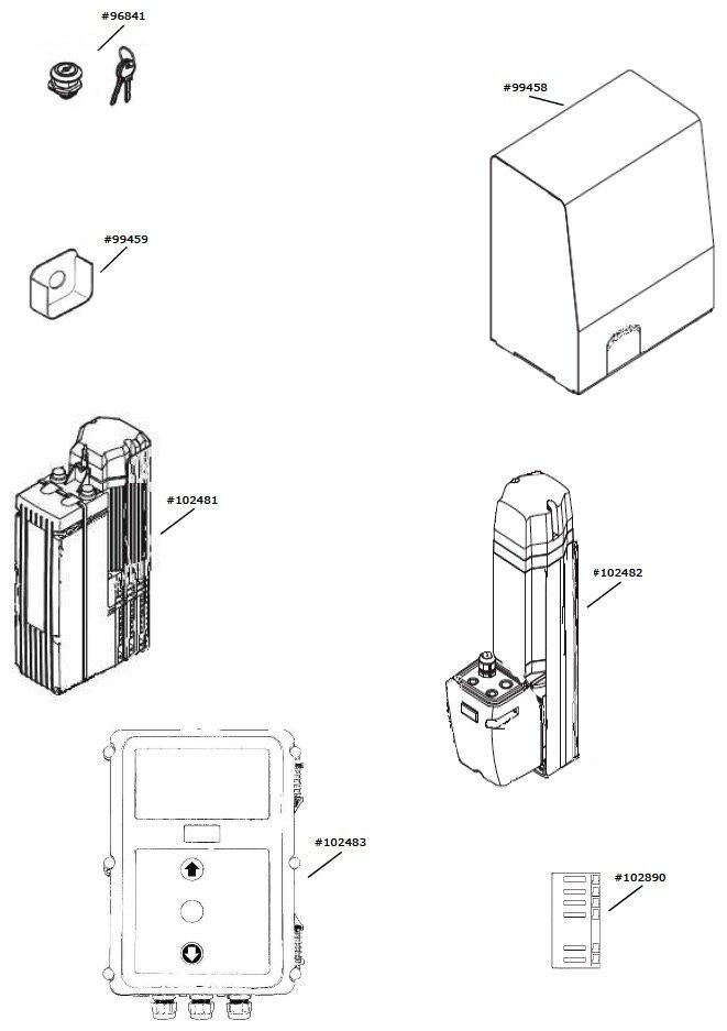 Marantec Steuerungsgehäuse-Deckel D.735-S, D.740-S, komplett