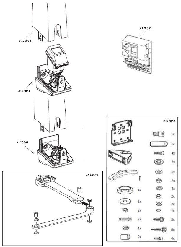 Marantec Magnethalter, 2 Stk.,  für Comfort 560
