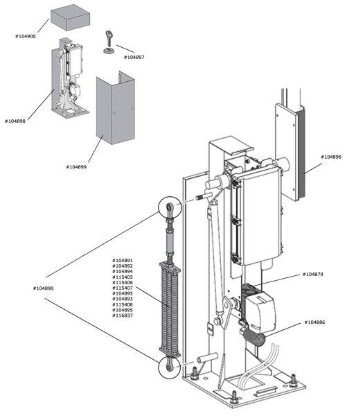Marantec Kabelbaum Motor / Sensor Parc 300