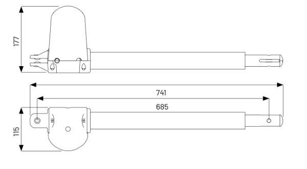 Marantec Comfort ST300 Drehtorantrieb, 2-flügelig, 24 V DC