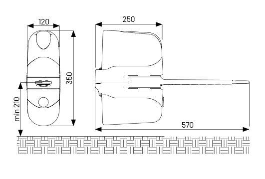 Marantec Comfort RE Kit Drehtorantrieb, 2-flügelig, 24 V DC