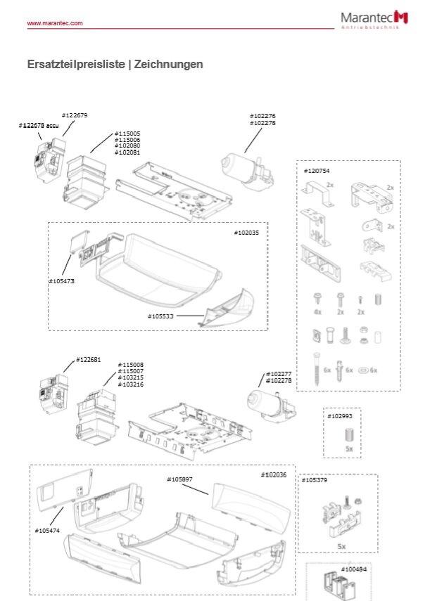 Marantec Controlbox C.260 speed, 270 speed ES/MSA