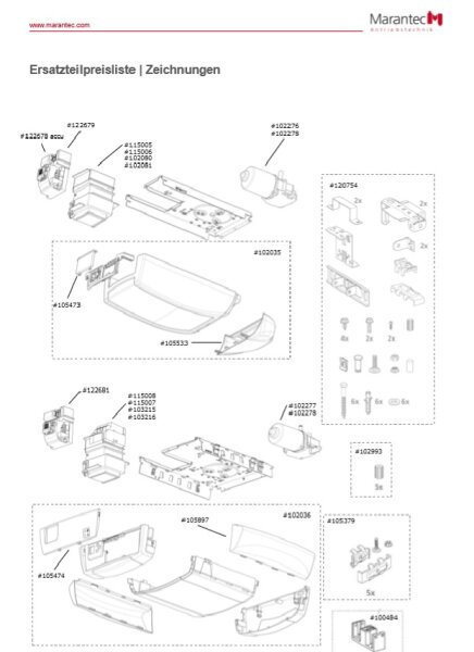 Marantec Gehäuseteile C.3xx komplett