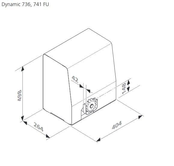 Marantec Dynamic 736 Schiebetorantrieb Antrieb ohne vormontiertem Signal-Übertragungssystem