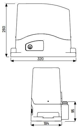 Marantec Schiebetorantrieb Comfort TU Kit Comfort TU500 Kit