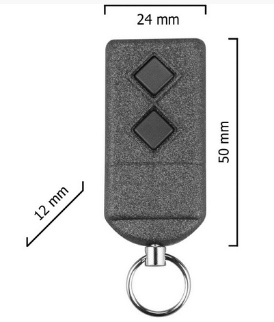 Dickert S5-433A2K00 Handsender, KeeLoq, 2-Kanal, 433 MHz AM